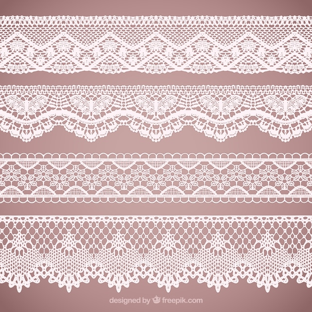 Lacy Borders Collection Vector Free Download