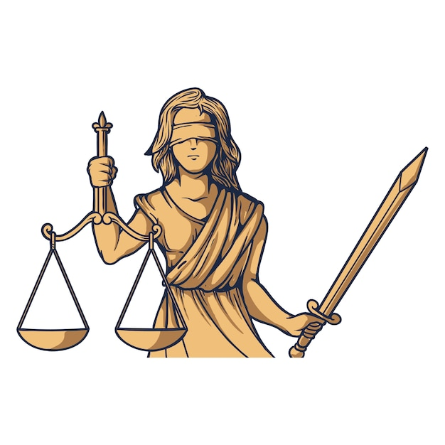 Леди правосудия фемида фемида Premium векторы
