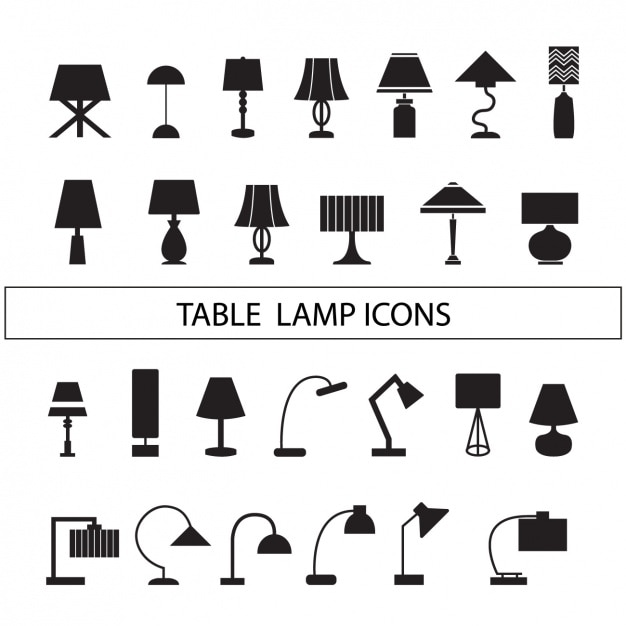 Lamps Silhouettes Collection Vector