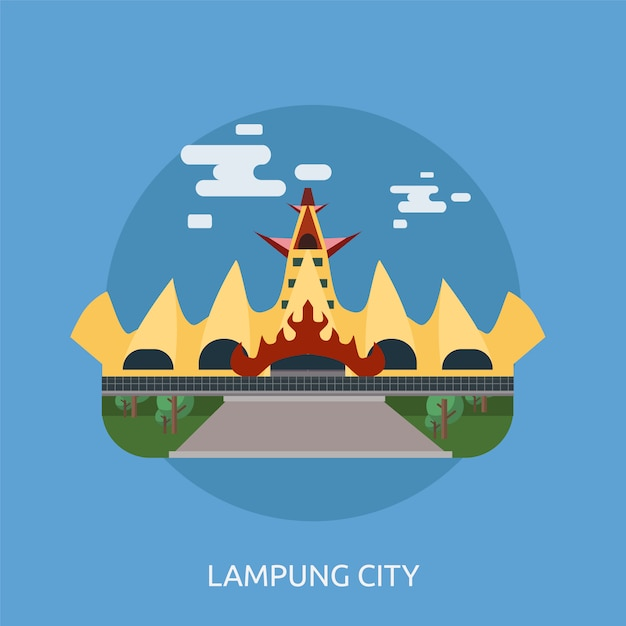 Lampung Background Design Vector Free Download