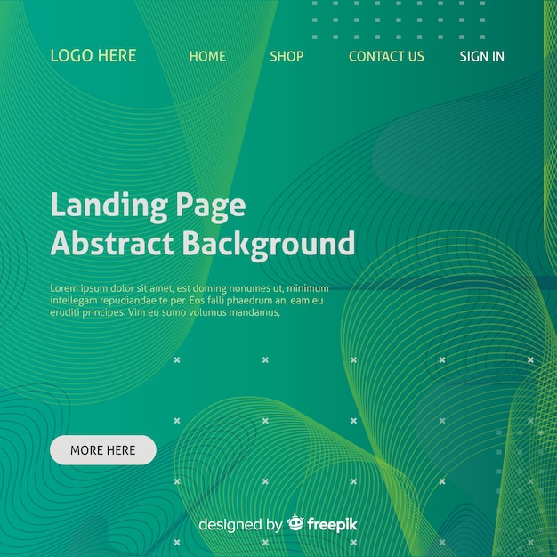 Landing page abstract background Free Vector