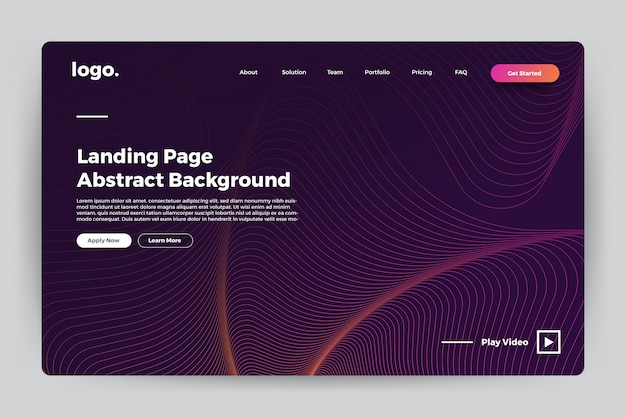 Landing page abstract background Premium Vector