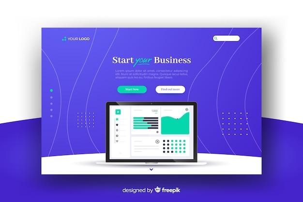 Запуск бизнес-страницы Бесплатные векторы