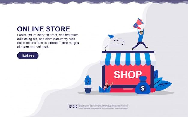 Landing page concept of online store Premium Vector