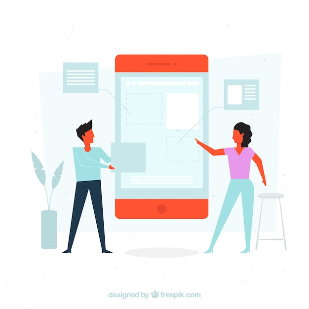 Landing page concept Free Vector