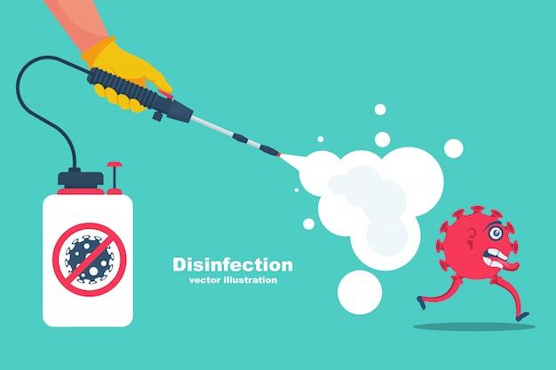 Landing page coronavirus protection. disinfectant concept Premium Vector