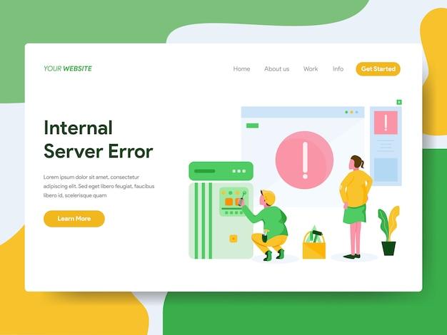 Landing page. internal server error illustration concept Premium Vector