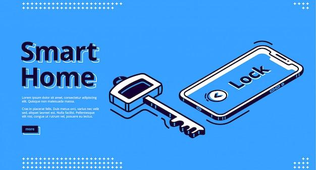 スマートホームキー、携帯電話アイコンのリンク先ページ 無料ベクター