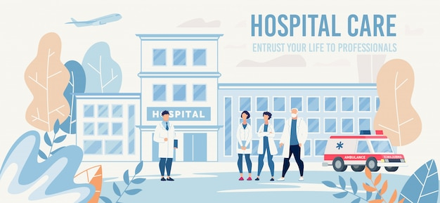 Landing page offering professional medical help Premium Vector