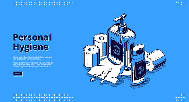 Landing page of personal hygiene Free Vector