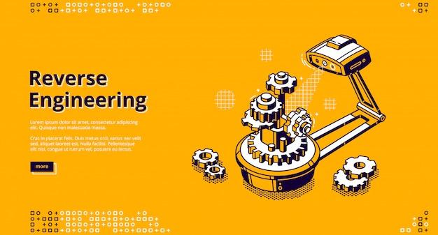 Landing page of reverse engineering Free Vector