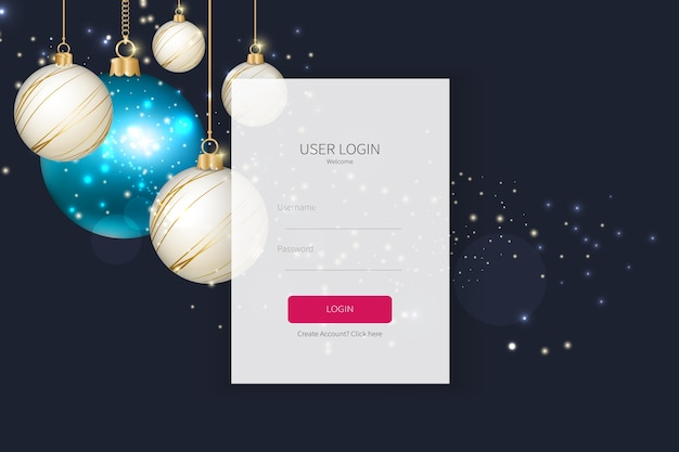 Landing page sign up or login form template Premium Vector