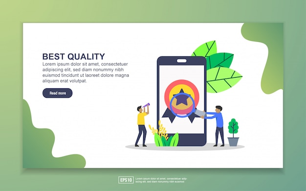 Landing page template of best quality. modern flat design concept of web page design for website and mobile website Premium Vector