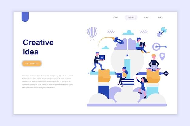 Landing page template of creative idea Premium Vector