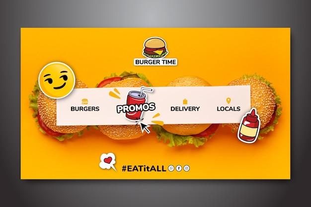 Modello di pagina di destinazione per fast food Vettore gratuito