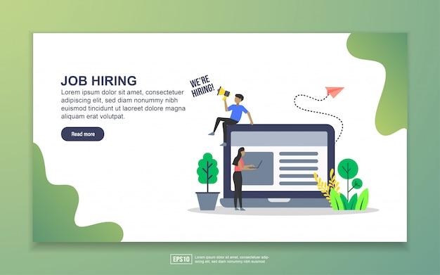 Landing page template of job hiring Premium Vector
