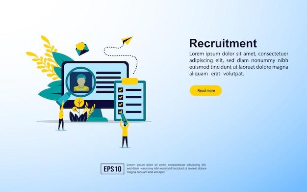Landing page template. recruitment Premium Vector