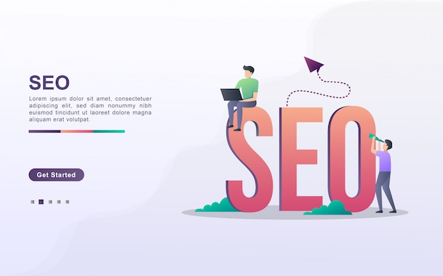 Landing page template of startup business in gradient effect style Premium Vector