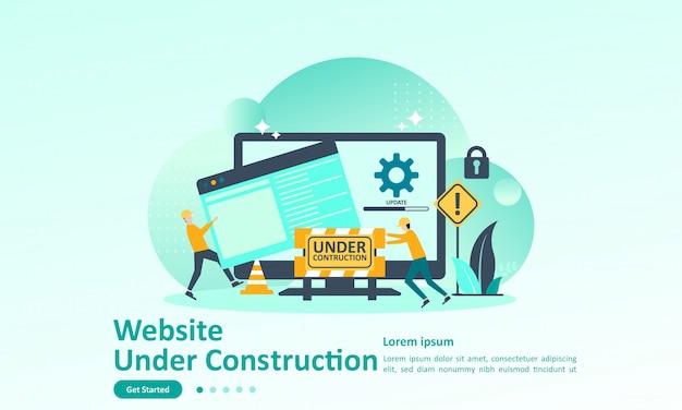 Landing page template of website developer Premium Vector