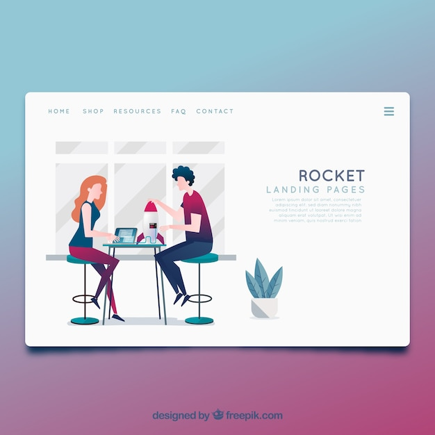 Landing page template with business concept vector free download landing page template with business concept free vector accmission Choice Image