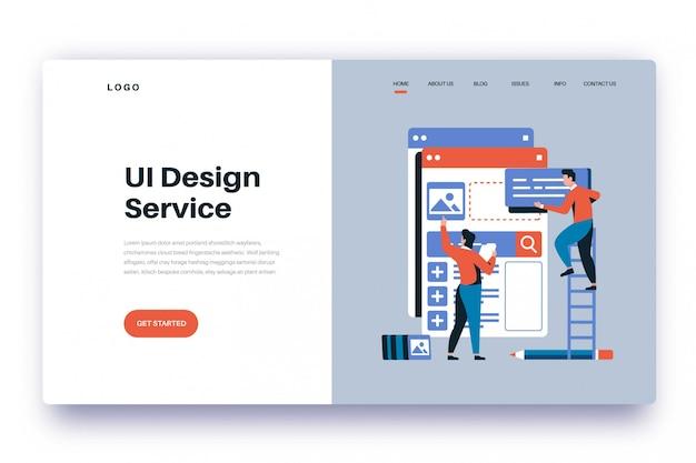 Premium Vector Landing Page Ui Design Service