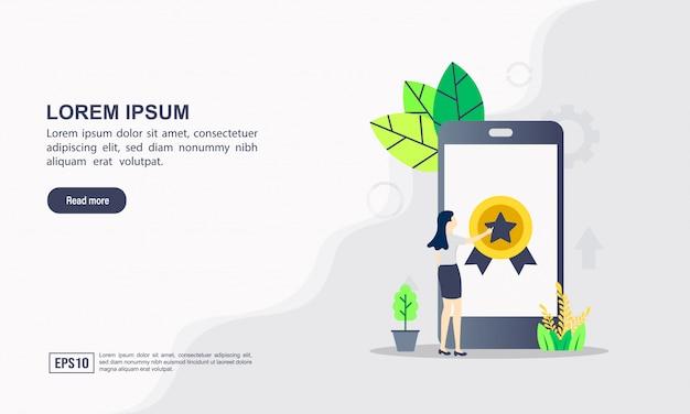 Landing page web template of seo & internet optimization concept Premium Vector