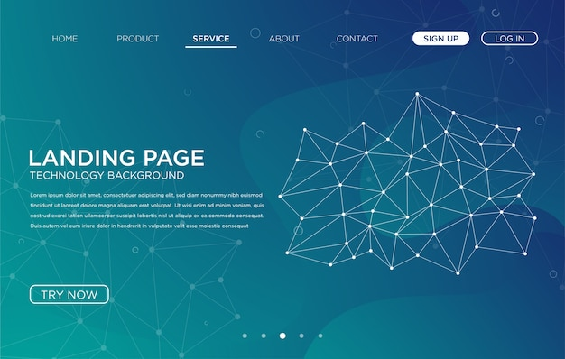 landing page website background template design vector premium