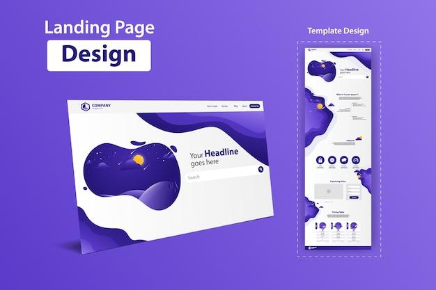 Landing page website vector template design Premium Vector