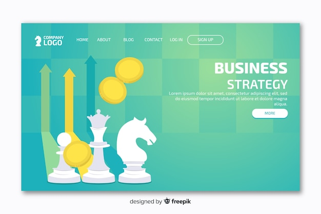 Landing page with cheese and green background Free Vector