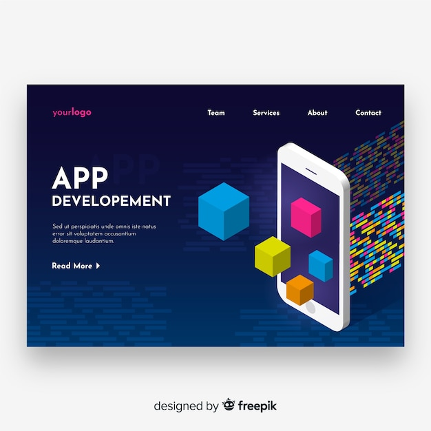Landing page Free Vector
