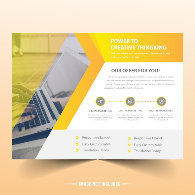 Landscape Brochure Template Vector Premium Download