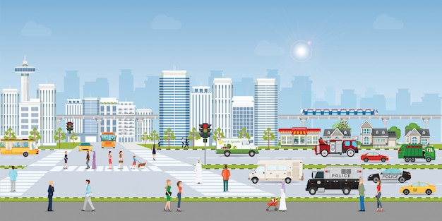 Landscape city Premium Vector