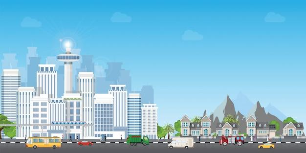 Landscape city Premium Vector