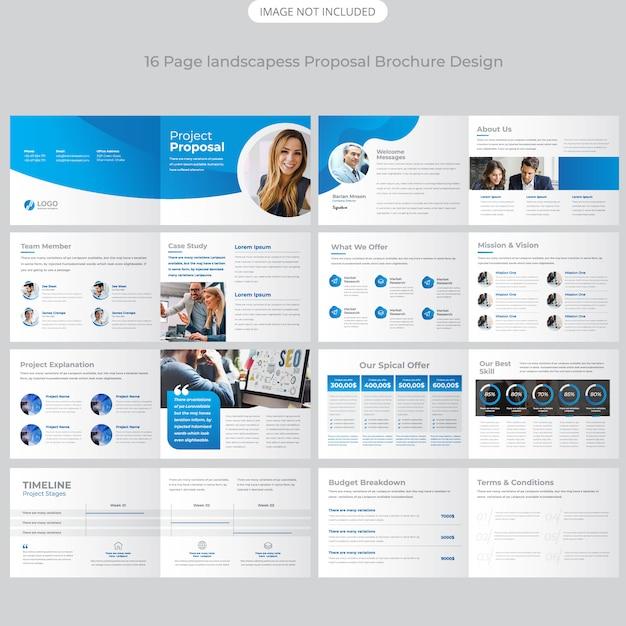 Landscape Company Profile Brochure Design Premium Vector