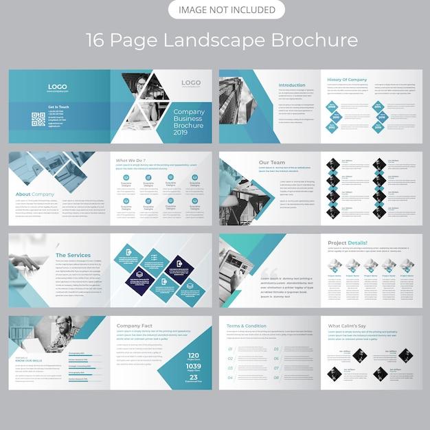 Landscape Company Profile Brochure Template Vector Premium