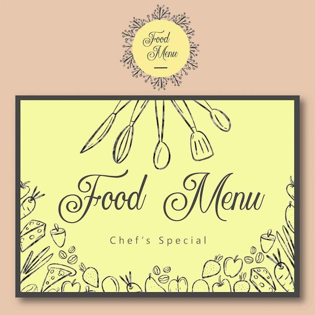 Landscape food menu template Premium Vector