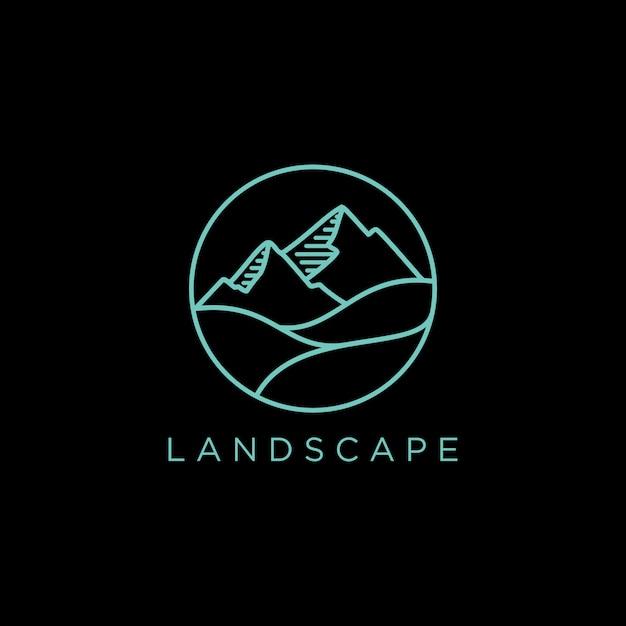Landscape logo Premium Vector
