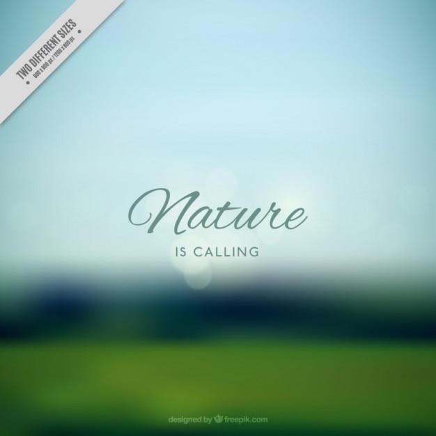 Landscape on a blurred background