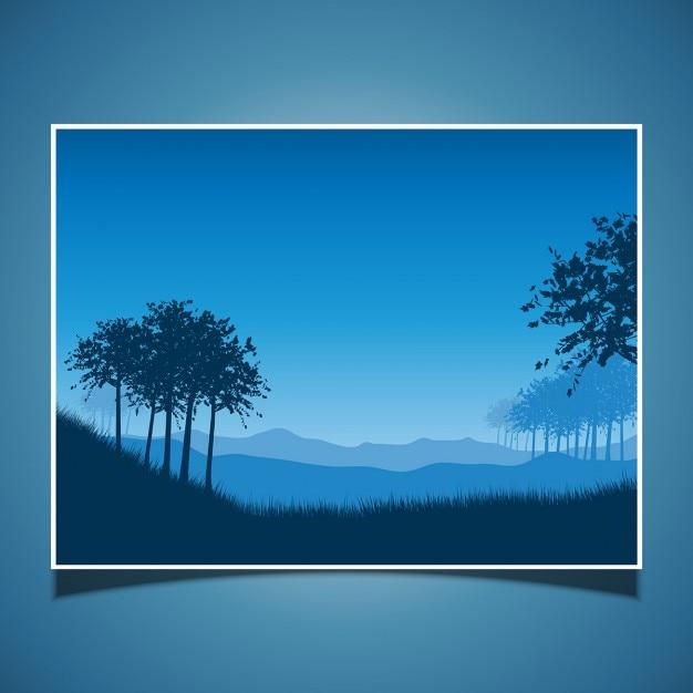 Landscape scene at night