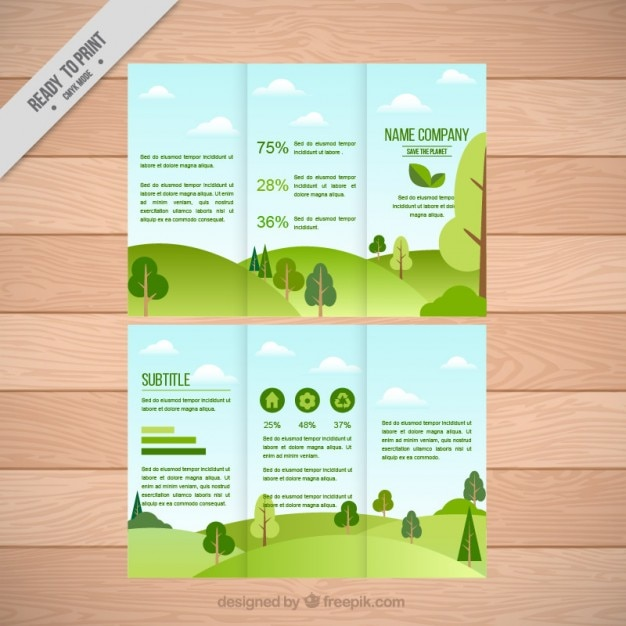 landscape trifold templates free vector