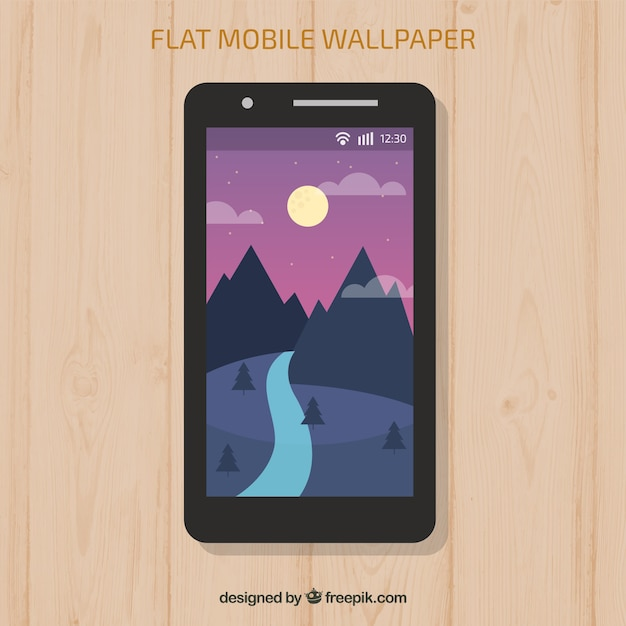 Landscape wallpaper of mountains and river for\ mobile
