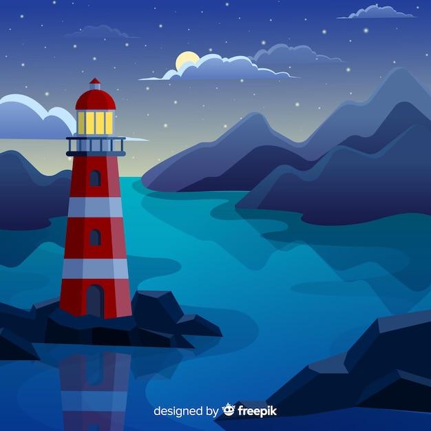 снимке, опубликованном маяк растровая картинка летнее время