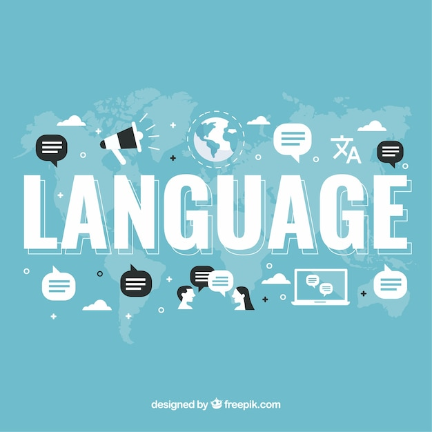 Language concept background with words Free Vector
