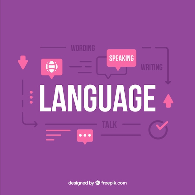 Language concept with flat design Free Vector