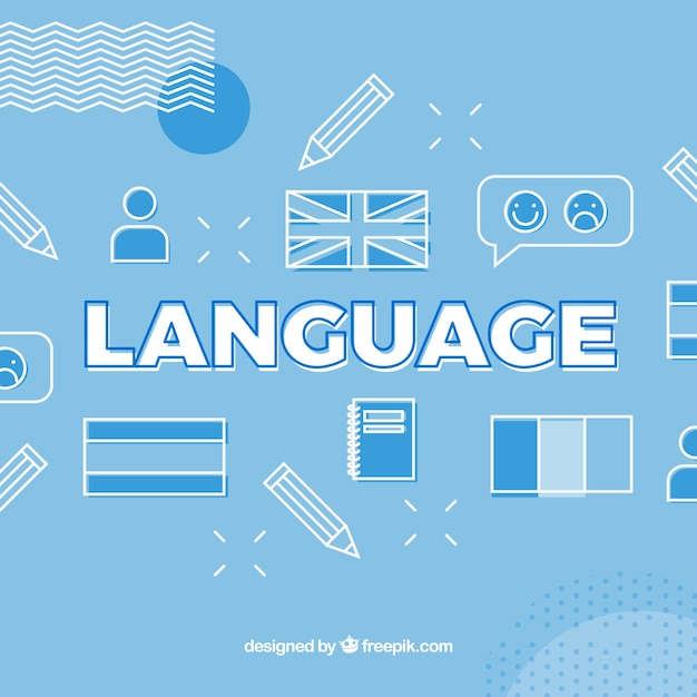 Language word concept background Free Vector
