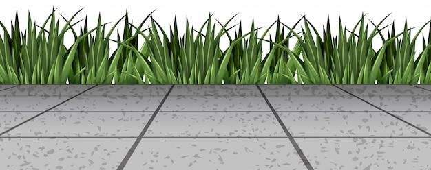 Трава у дороги | Бесплатный вектор
