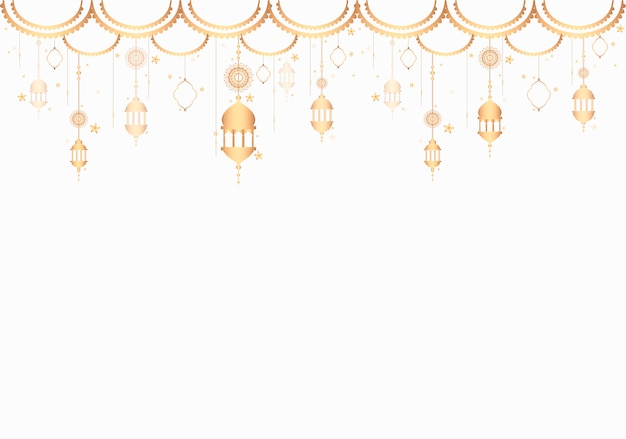 Lanterns pattern a blank white background Free Vector