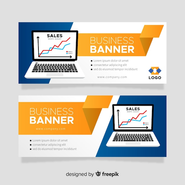 Laptop Banner Template Vector Free Download