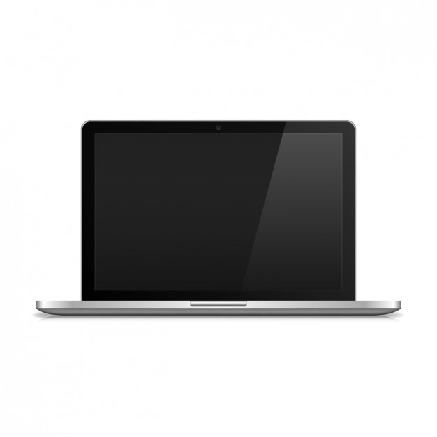 Laptop realistic Free Vector
