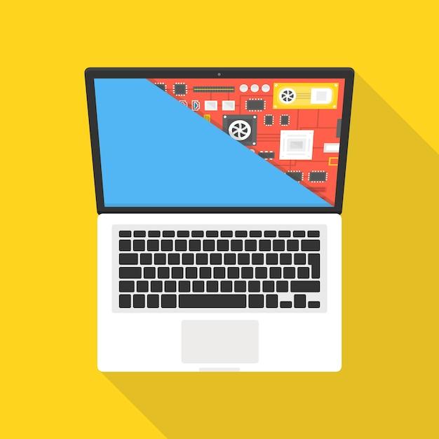 Laptop repair, computer service Premium Vector